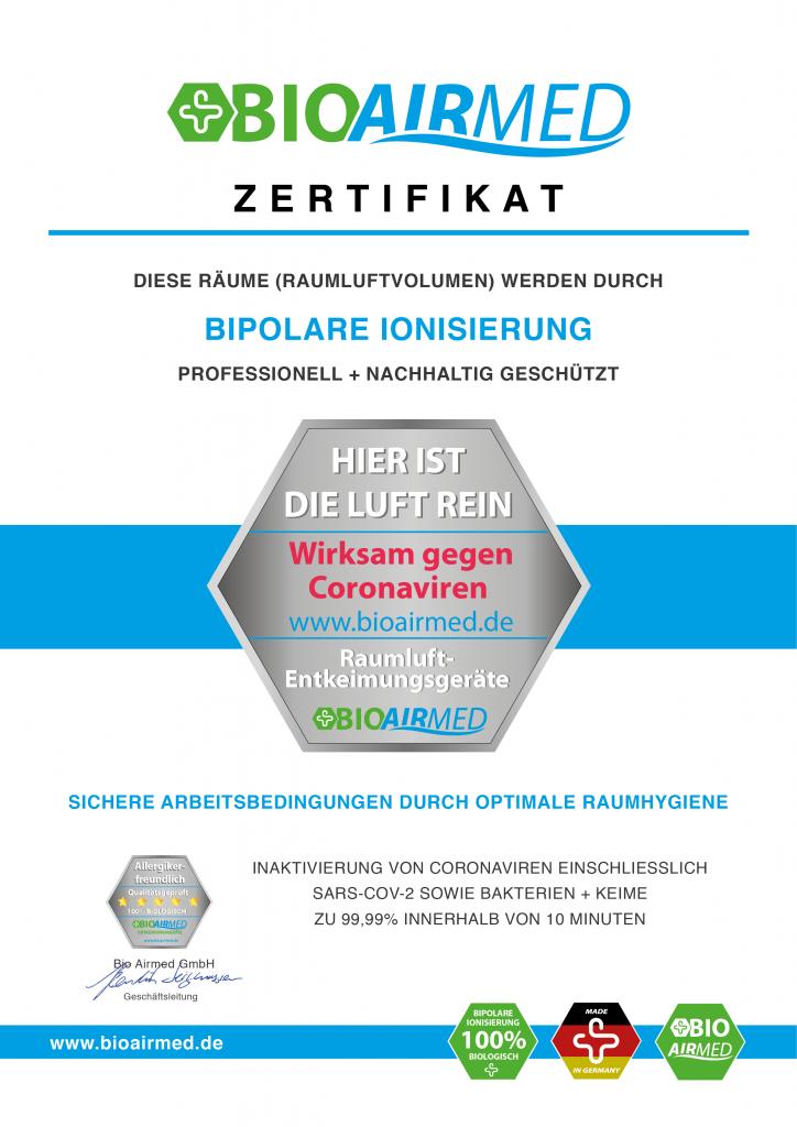 Bioairmed_Zertifikat